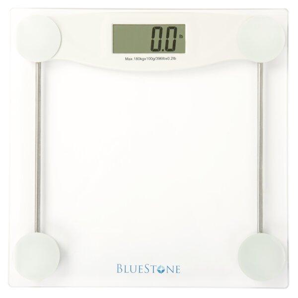 Digital Glass Bathroom Scale with LCD Display by Bluestone