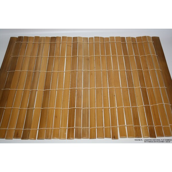 Flat Bamboo Placemat (Set of 4) by Desti Design
