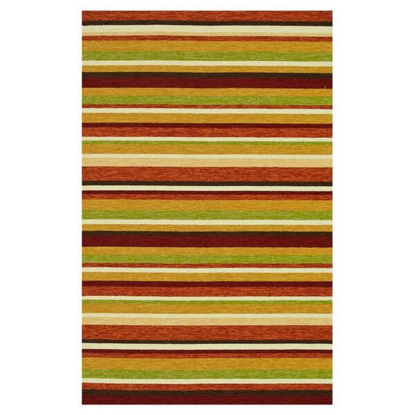 Danko Hand-Hooked Green/Red Indoor/Outdoor Area Rug by Wrought Studio