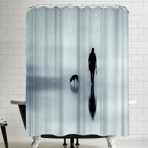 One Man And His Dog Shower Curtain by East Urban Home