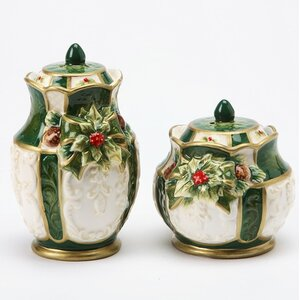 Emerald Holiday 2-Piece Salt and Pepper Set