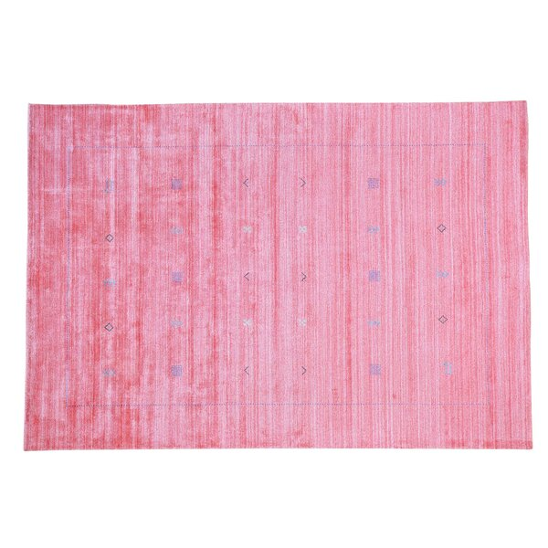 One-of-a-Kind Brienne Hand-Knotted Pink Area Rug by Bungalow Rose
