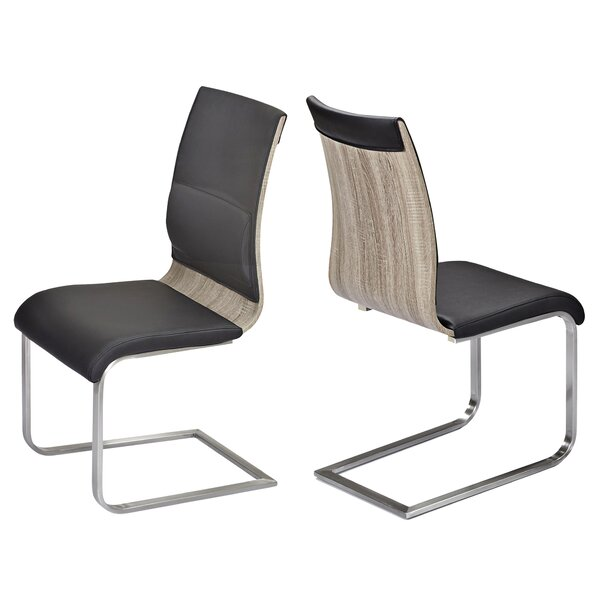 Tobiah Upholstered Dining Chair (Set of 2) by Wade Logan Wade Logan