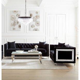 Eleri 2 Piece Velvet Configurable Living Room Set by Rosdorf Park