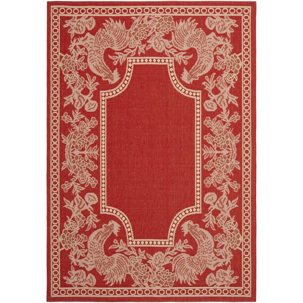 Wysocki Red/Natural Indoor/Outdoor Rug by August Grove