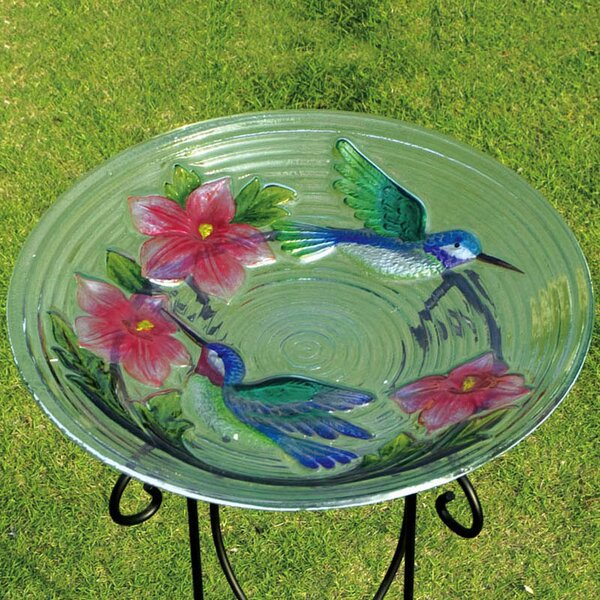 Hummingbird Couple Birdbath by Evergreen Flag & Garden