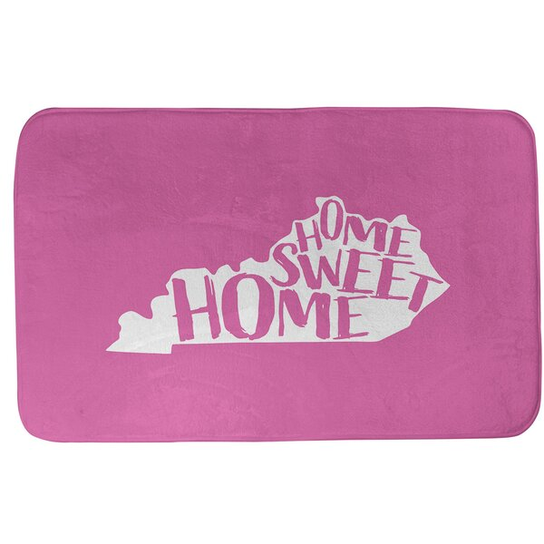 Home Sweet Kentucky Rectangle Non-Slip Does Not Apply Bath Rug