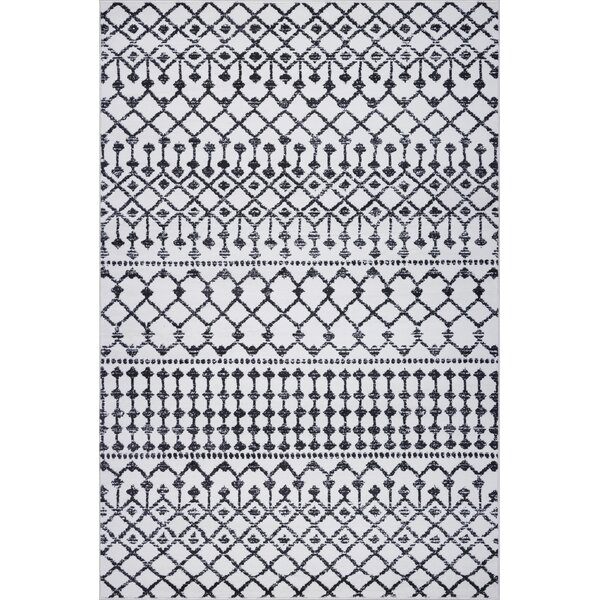 Crook Power Loom Ivory Area Rug by Bungalow Rose