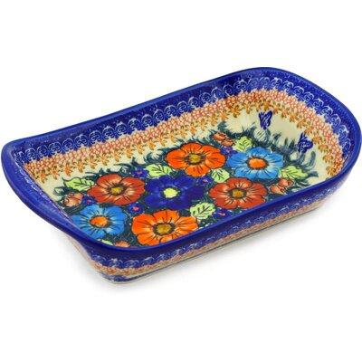 Polish Pottery 11 Rectangle Platter by Polmedia