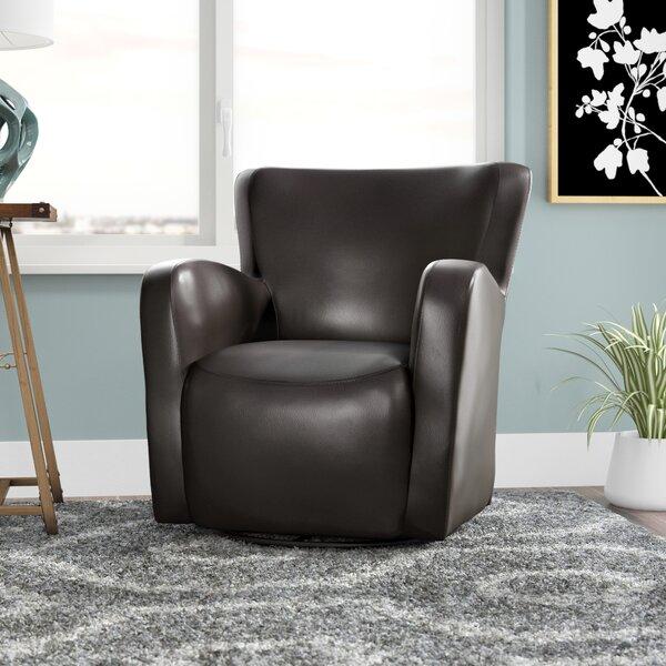 Makson Swivel Armchair by Zipcode Design