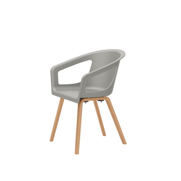 Deker Etc. Side Chair With Wood Legs - 2 Pack (Set Of 2) By National Office Furniture