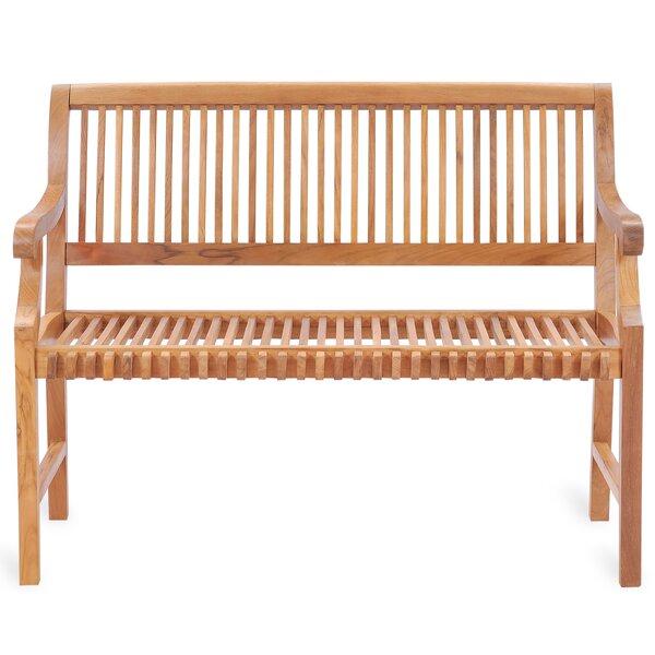 Ryne Teak Garden Bench by Rosalind Wheeler