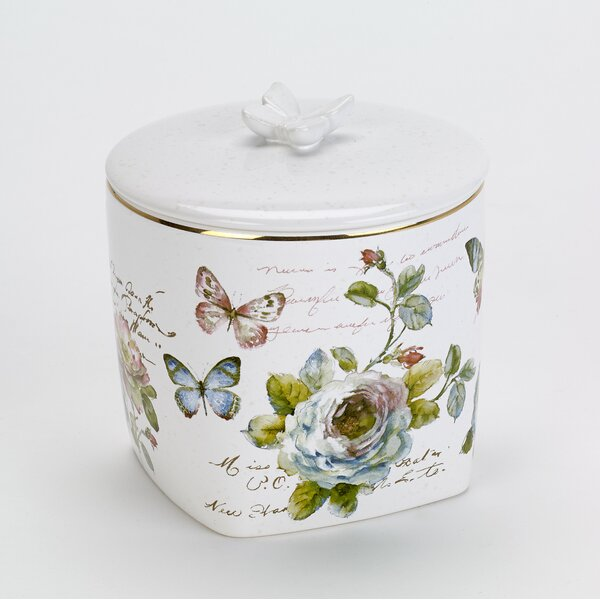 Butterfly Garden Shower Storage Jar by Avanti Linens