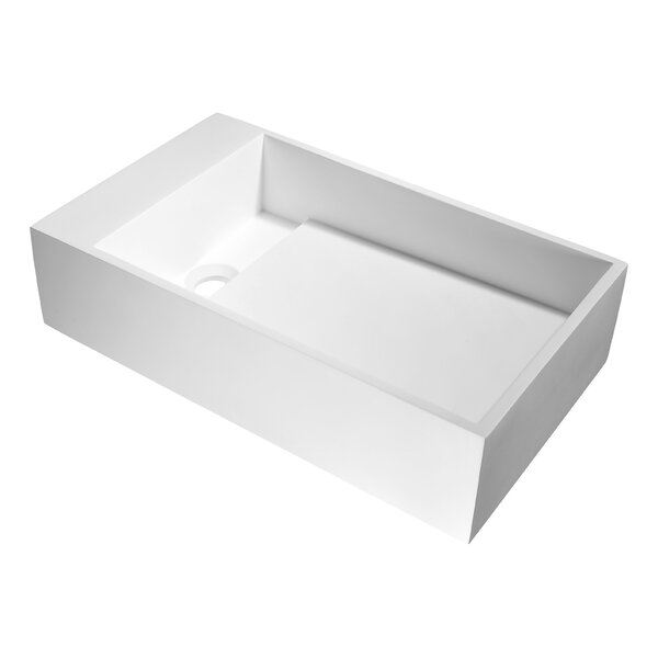 Pascal Plastic Rectangular Vessel Bathroom Sink by