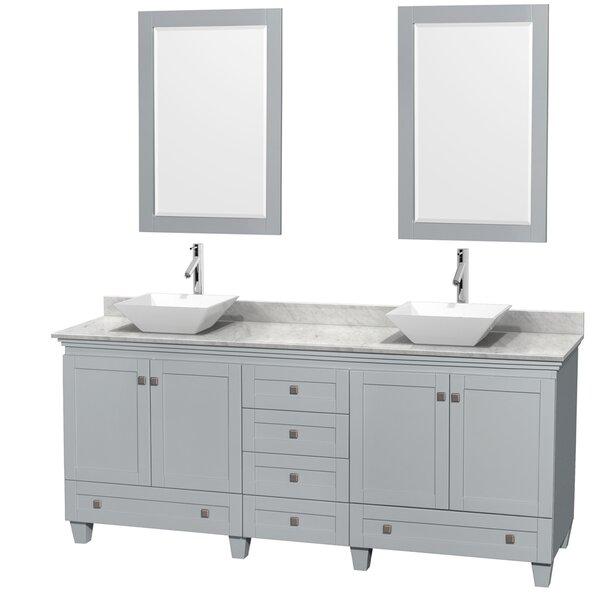 Acclaim 80 Double Bathroom Vanity Set with Mirror