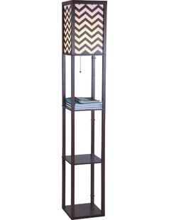 Clearance Wooden Shelf 63 Column Floor Lamp By Major-Q