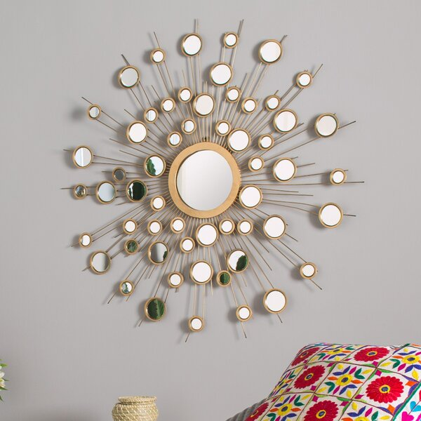 Sunburst Metal Wall Mirror by Willa Arlo Interiors