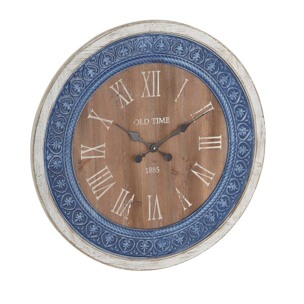 Oversized Mcgarity Rustic Distressed Round 31 Wall Clock by Charlton Home