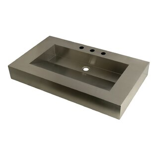 Reviews Stainless Steel Rectangular Vessel Sink By Kingston Brass