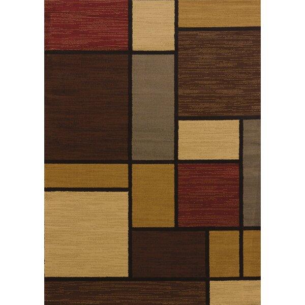 Affinity Rhombus Brown/Beige Area Rug by United Weavers of America