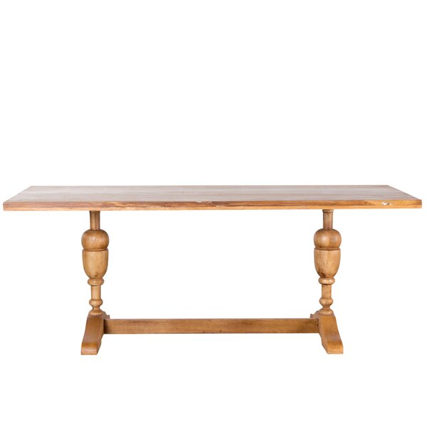 Perera Solid Wood Dining Table by World Menagerie
