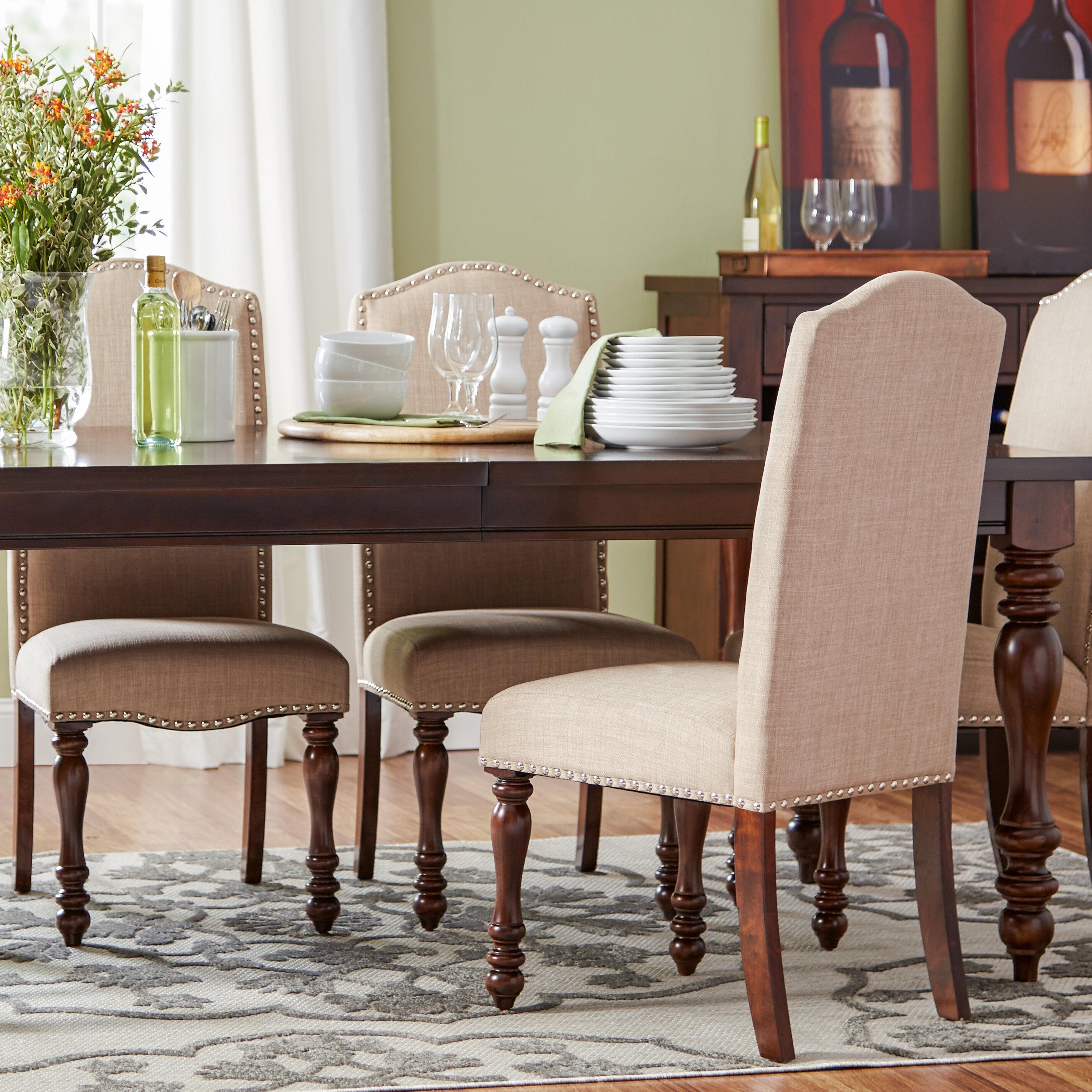 Three Posts Charli Upholstered Side Chair In Dark Beige Reviews Wayfair