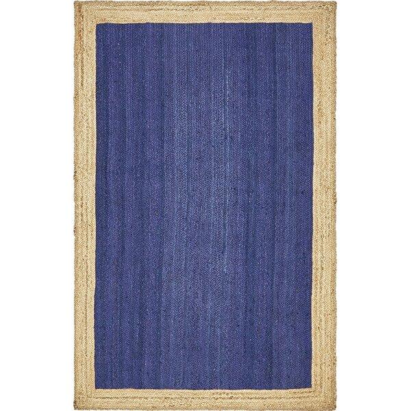 Calathea Hand-Braided Navy Blue Area Rug by Beachcrest Home