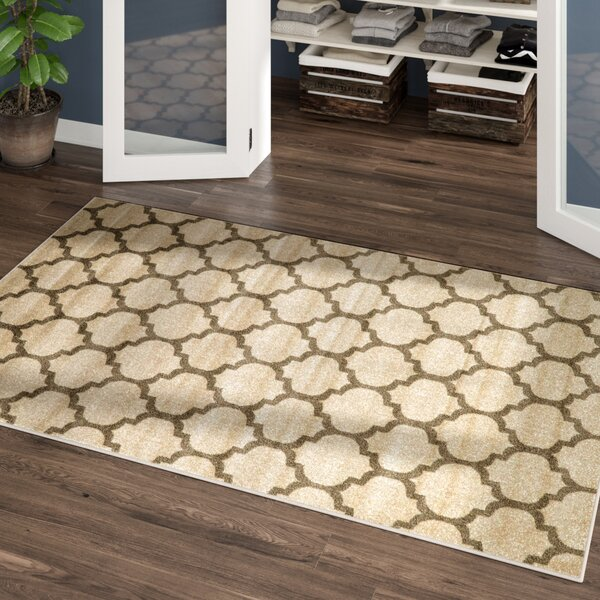 Moore Beige & Tan Area Rug by Charlton Home