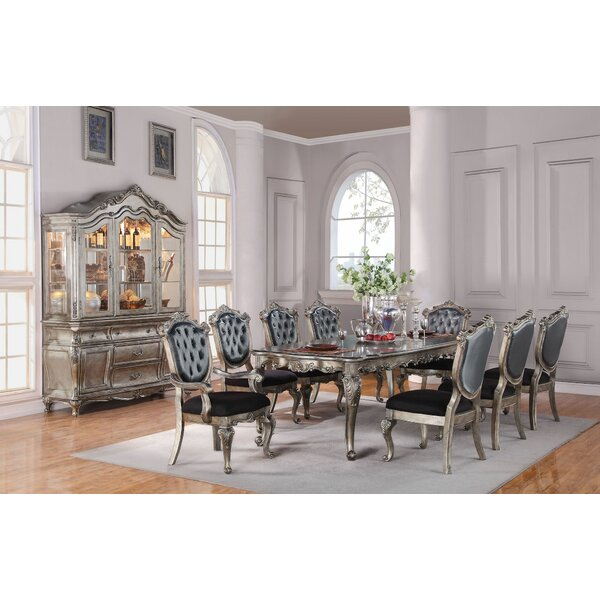 Joann 9 Pieces Extendable Dining Set by House of Hampton