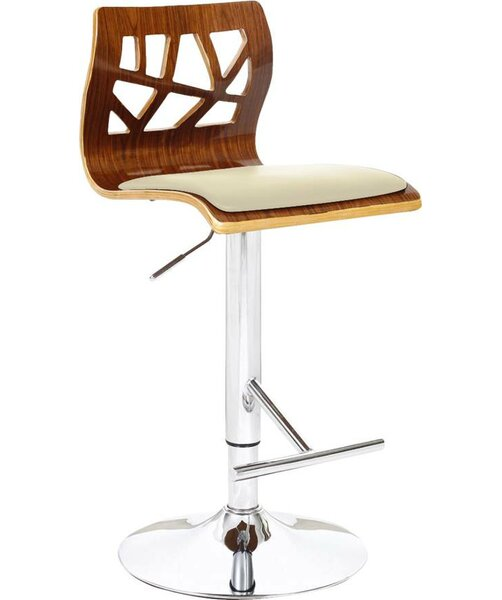 Carentan Swivel Adjustable Height Bar Stool (Set of 2) by Orren Ellis Orren Ellis