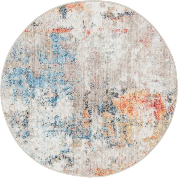 Beaulieu Prism Gray/Blue Area Rug by Wrought Studi