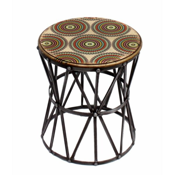 Costanza Aesthetically Charmed Round Metal End Table By World Menagerie