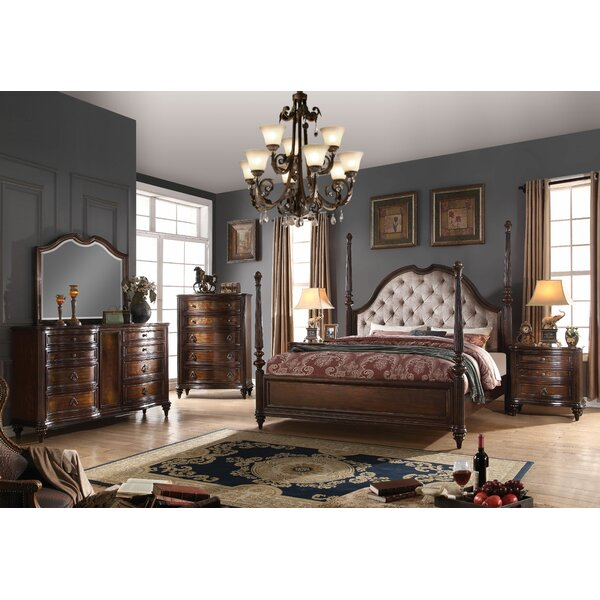 Cesar Four Poster Configurable Bedroom Set by Astoria Grand