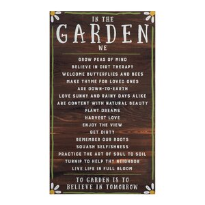 Secret Garden In the Garden Textual Art on Manufactured Wood by Creative Co-Op