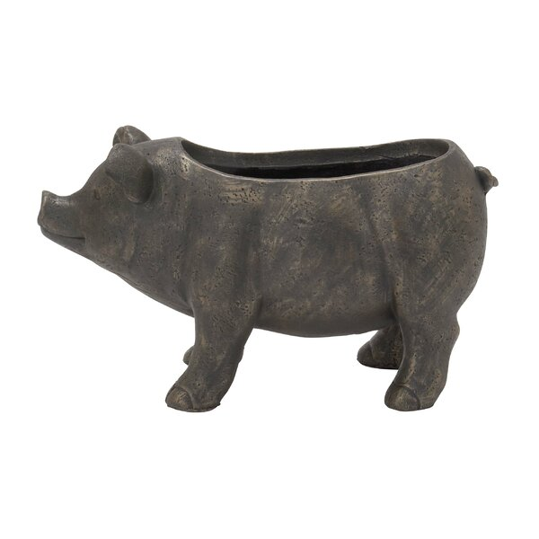 Pig Ceramic Statue Planter by Cole & Grey