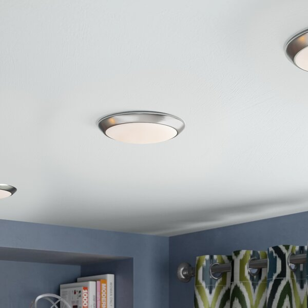 Brookline 1-Light Flush Mount by Ebern Designs
