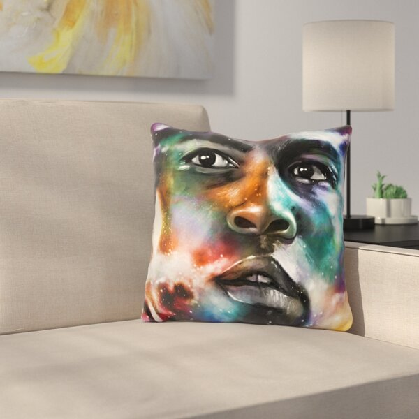 Muhammad Ali Throw Pillow by East Urban Home