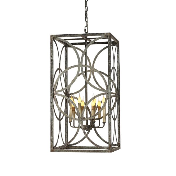 Diamond 6 - Light Candle Style Rectangle / Square Chandelier