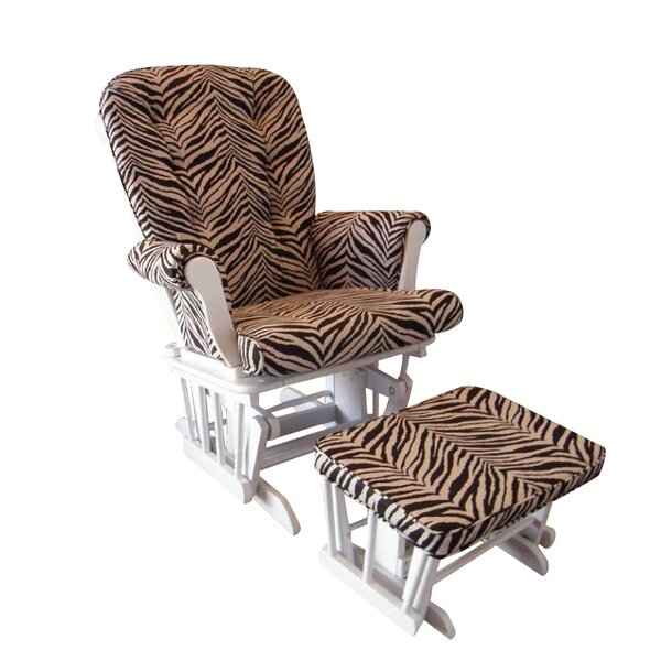 Sumba Zebra Print Glider and Ottoman by Cotton Tale