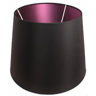 Purple light shades wayfair alline 45cm silk drum lamp shade mozeypictures Image collections