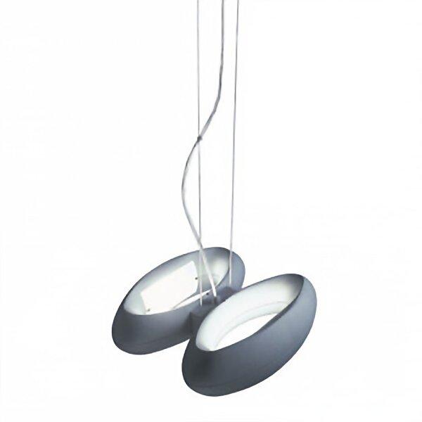 Loop 2-Light Geometric Chandelier by ZANEEN design