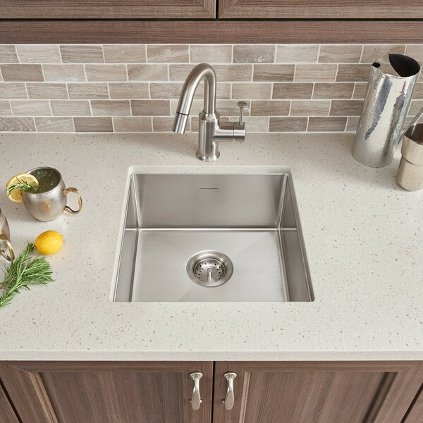 Pekoe 35 L x 18 W Double Basin Undermount Kitchen Sink with Grid and Drain by American Standard