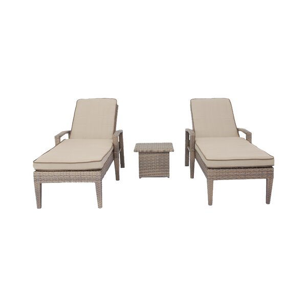 Vanetten Sun Lounger Set with Cushions