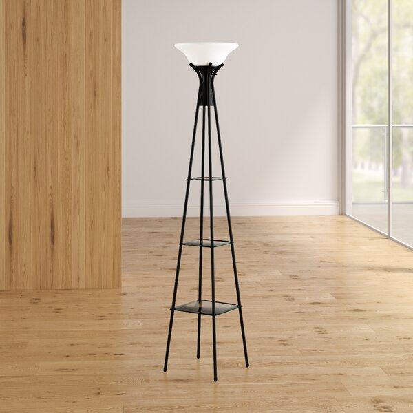 Benton Incandescent 70 Torchiere Floor Lamp by Ivy Bronx