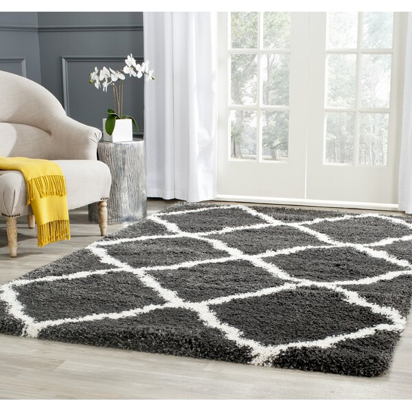 Cherry Street Charcoal / Ivory Area Rug by Wrought Studio