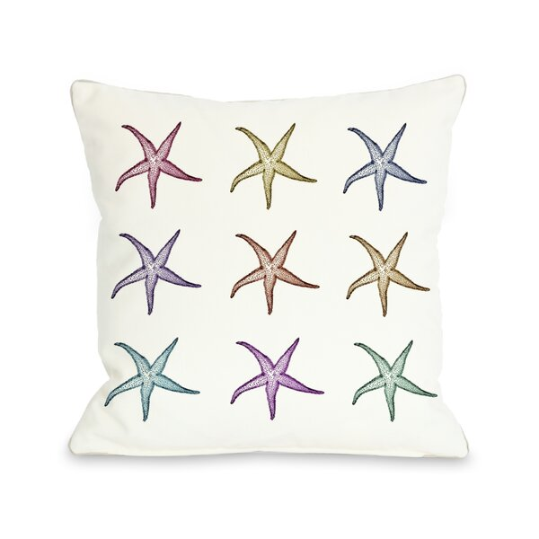 Starfish Pattern Throw Pillow by One Bella Casa