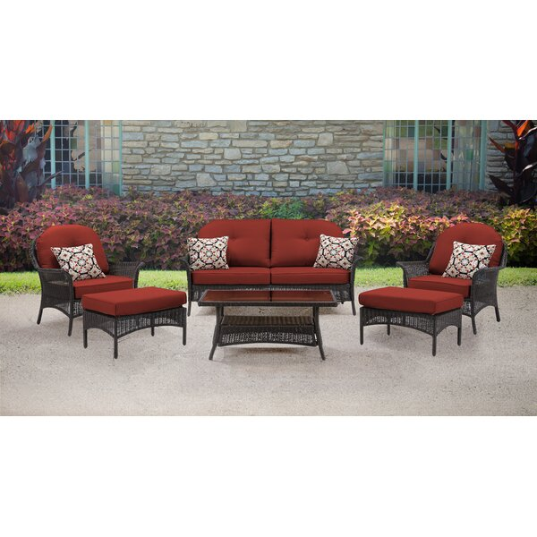 Dominquez 6 Piece Rattan Sofa Seating Group with Cushions by Darby Home Co