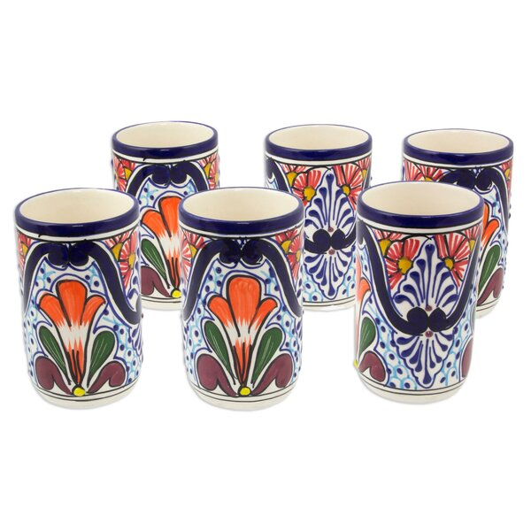 8 oz. Ceramic Every Day Glass (Set of 6) by Novica
