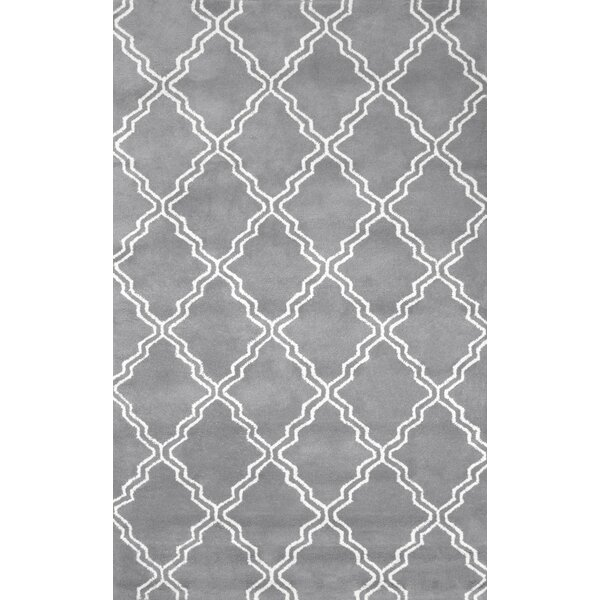 Varanas Hand Tufted Wool Gray Area Rug By Nuloom.