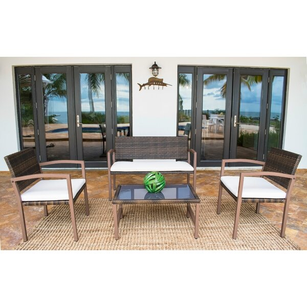 4 Piece Sofa Seating Group (Set of 4) by Bayou Breeze